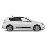 Комплект спортивных полос Mazda 3 на борт Мазды, вид 5
