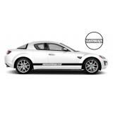 Комплект спортивных полос Mazdaspeed на борт Mazda RX-8, вид 3