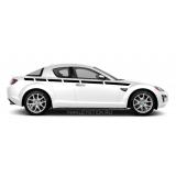 Акцентные полосы на бока Mazda RX-8, вид 7