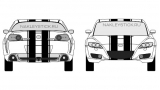 Спортивные полосы на Мазду RX-8, вид 8