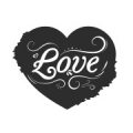 """Наклейка """"Сердце, любовь"""""""