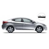 Комплект акцентных полос на  двери Hyundai Elantra, вид 1