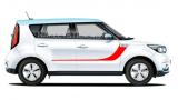 Комплект акцентных полос на двери Kia Soul, вид 3