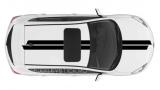 Спортивные полосы на Mazda 3 хетчбэк, вид 11