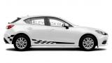 Спортивные полосы на борт Mazda 3 хетчбэк, вид 8