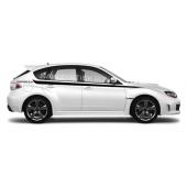 Акцентные полосы на борт Subaru Impreza, вид 1