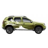 "Наклейка ""Горы и лес"" на правый борт Renault Duster"