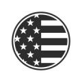 "Наклейка на авто ""Американский флаг"" круглая"