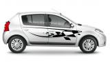 Комплект наклеек на борт Renault Sandero, вид 4