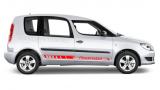 Комплект акцентных полос на борт автомобиля Шкода Roomster, вид 1