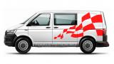 "Наклейка ""Шахматный флаг"" на левый борт Фольксваген Транспортер"