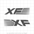 """Комплект наклеек """"XF"""" на автомобиль DAF, вид 3"""
