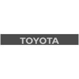 """Наклейка полоса """"Toyota"""" на лобовое стекло 130 х 18 см"""