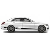 Акцентные полосы на борт Mercedes-Benz C-class, вид 1