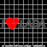 """Наклейка на авто """"I love LADA"""""""