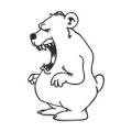 """Наклейка на авто """"Медведь"""""""