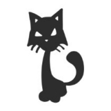 """Наклейка на авто """"Чёрный кот"""""""