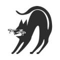 "Наклейка на авто ""Чёрная кошка"""