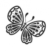 "Наклейка на авто ""Бабочка 4"""