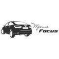 """Наклейка на авто """"Форд фокус 3 сзади"""""""