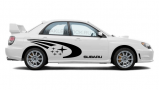 "Комплект наклеек ""Комета Субару"" на автомобили Subaru, вид 1"