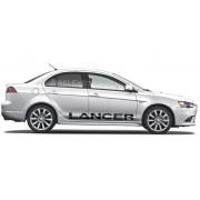 "Комплект наклеек ""Lancer"" на Митсубиши Лансер"