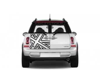 """Наклейка """"Британский флаг"""" на Mini Cooper Clubman"""