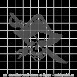 """Наклейка на авто """"Череп-пират"""""""