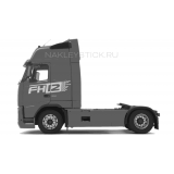 """Комплект наклеек """"FH12"""" на кабину Volvo, вид 5"""