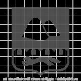 """Наклейка на авто """"Малый герб Курганской области"""""""