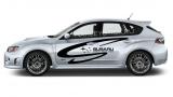 """Наклейка на авто """"Subaru world rally team"""" на левый борт"""
