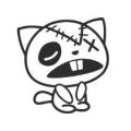 "Наклейка на авто ""Бедняга кот"""