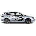 "Наклейка на авто ""Subaru world rally team"" на правый борт"