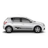 Спортивные полосы на двери Renault Sandero, вид 5