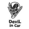 """Наклейка на авто """"Дьявол в машине"""""""