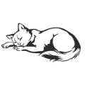 """Наклейка на авто """"Спящая кошка"""""""