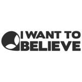 """Наклейка на авто """"I want to believe"""""""