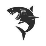 "Наклейка на авто ""Белая акула"""