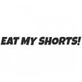"""Наклейка на авто """"Eat my shorts"""""""
