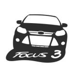 """Наклейка на авто """"Форд фокус 3"""""""
