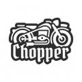 """Наклейка на авто """"Чоппер"""""""