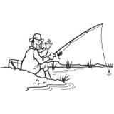 """Наклейка на авто """"Рыбак на рыбалке"""""""