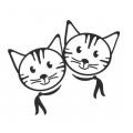 """Наклейка на авто """"Котики"""""""