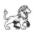 """Наклейка на авто """"Благородный лев"""""""