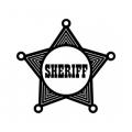 "Наклейка на авто ""Звезда шерифа"""
