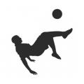 "Наклейка на авто ""Футболист в прыжке"""