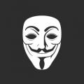 """Наклейка на авто """"Маска анонимуса"""""""