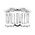 """Наклейка """"Хеллоуин с орнаментом""""  EN"""