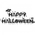 "Наклейка на авто ""Happy halloween"""