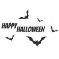 """Наклейка на авто """"Happy halloween с летучими мышами"""""""